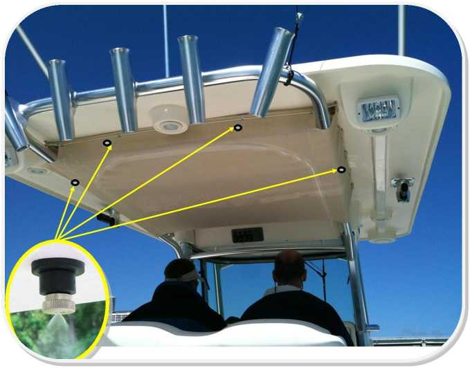 Sailboatstuff mist er comfort marine misting system kits custom marine mister kit with pump by mist er comfort hardtop installation solutioingenieria Image collections