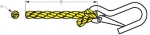 Hollow Braid Poly-Pro Anchor Line with Snap Diagram by Sea-Dog