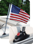 Flag Pole Socket with USA Flag by Taylor Made Products