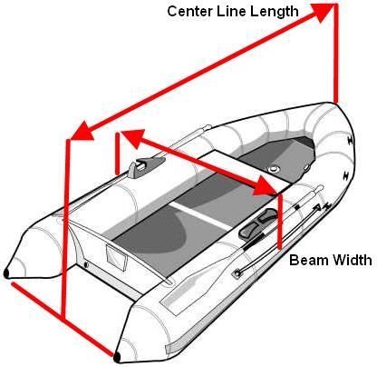 Sailboatstuff taylor made products inflatable sport boat cover with required measurements for inflatable sport boat covers click for larger image ccuart Images